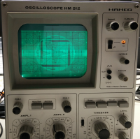 TV test pattern on an oscilloscope without Z-input